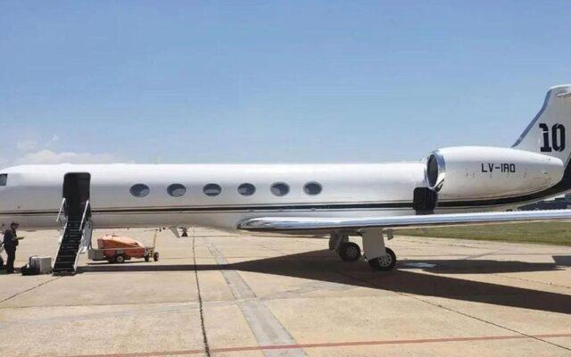 aereo privato lionel messi prezzo affitto presidente argentino fernandez
