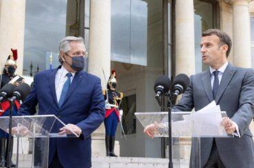alberto fernández visita europa francia macron debito argentina