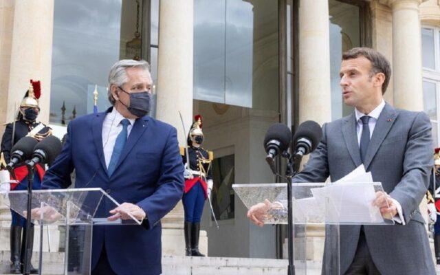 alberto fernandez visita europa francia debito argentina
