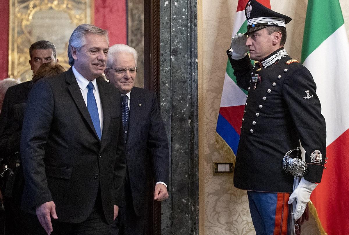 alberto fernández visita italia roma maggio 2021