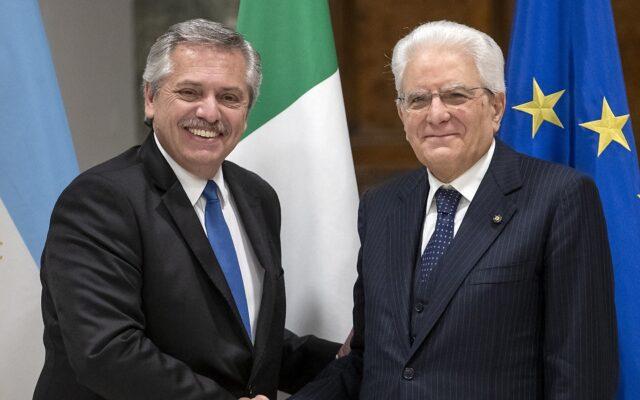 alberto fernandez visita italia roma maggio 2021