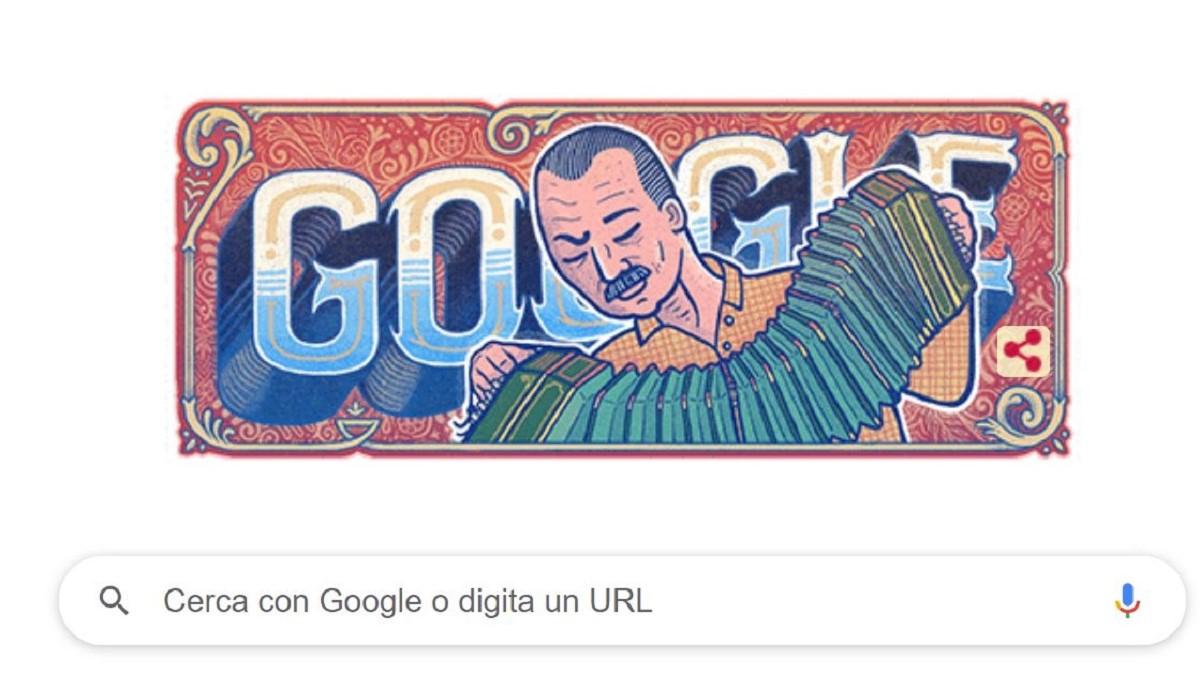 astor piazzolla doodle google centenario nascita tango