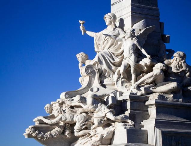 il monumento a Cristoforo Colombo di Buenos Aires paseo costanorte