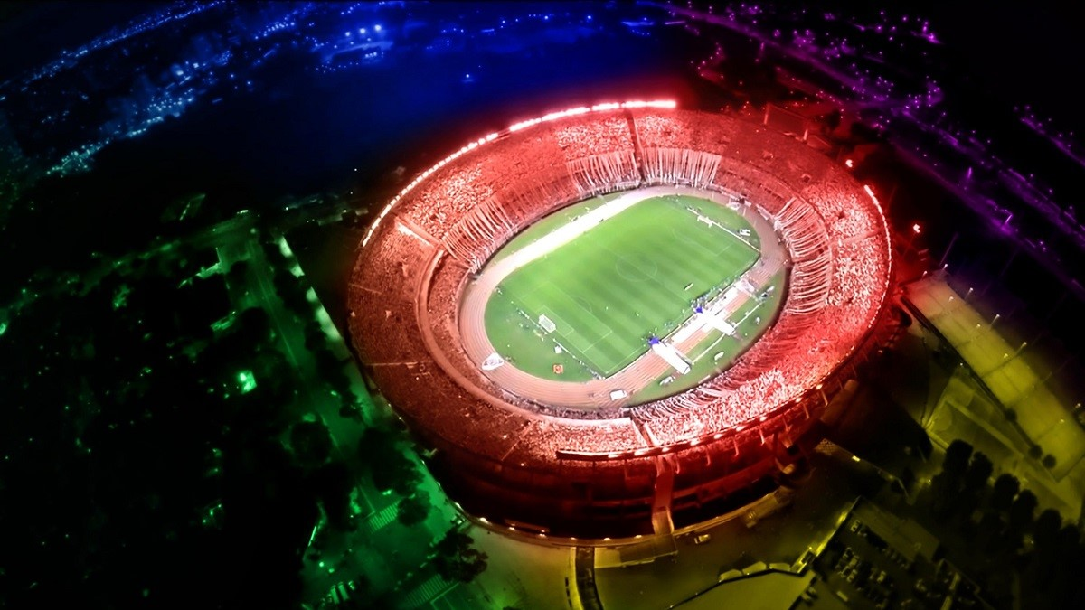 river plate stadio monumental drone