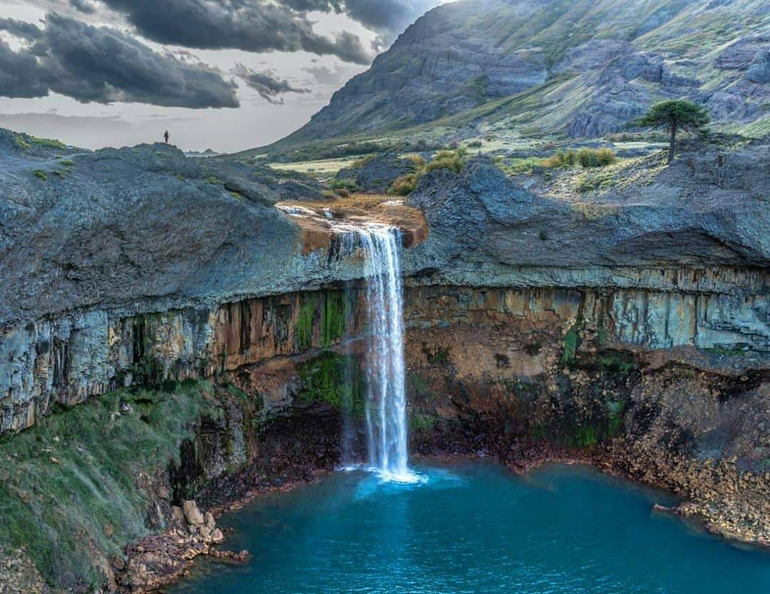 salto del agrio cascata neuquen patagonia argentina