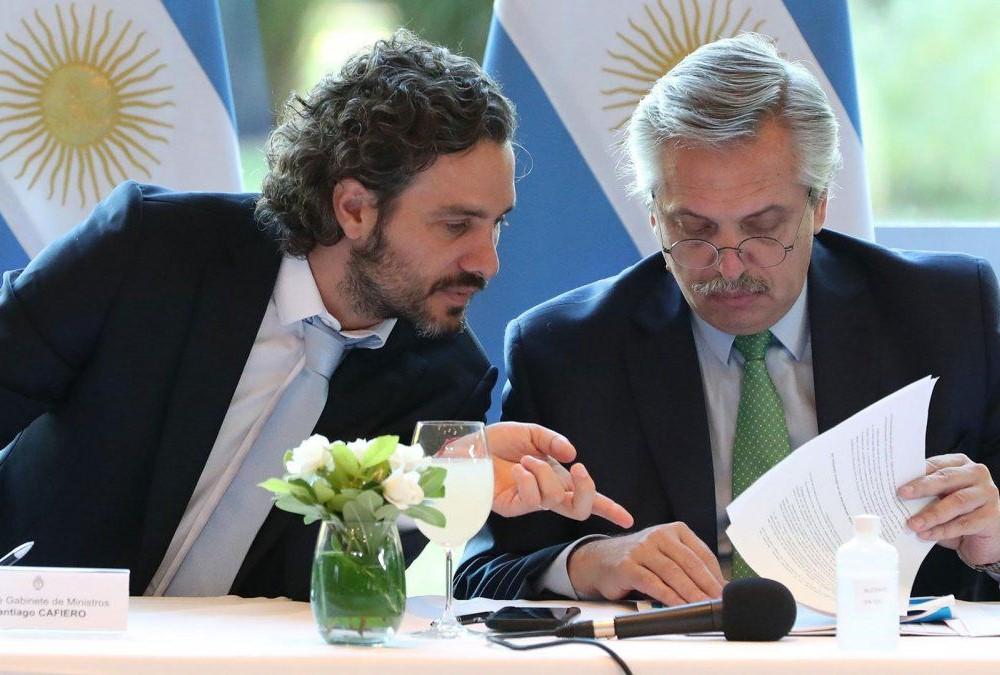 SAntiago Cafiero e Alberto Fernández